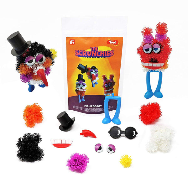Scrunchies Return Gift Combo - Pack of 12 Monster Family Construction Sets for Kids