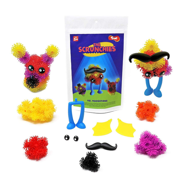 Toiing Scrunchies Return Gift Combo - Pack of 12 Monster Family Construction Sets for Kids