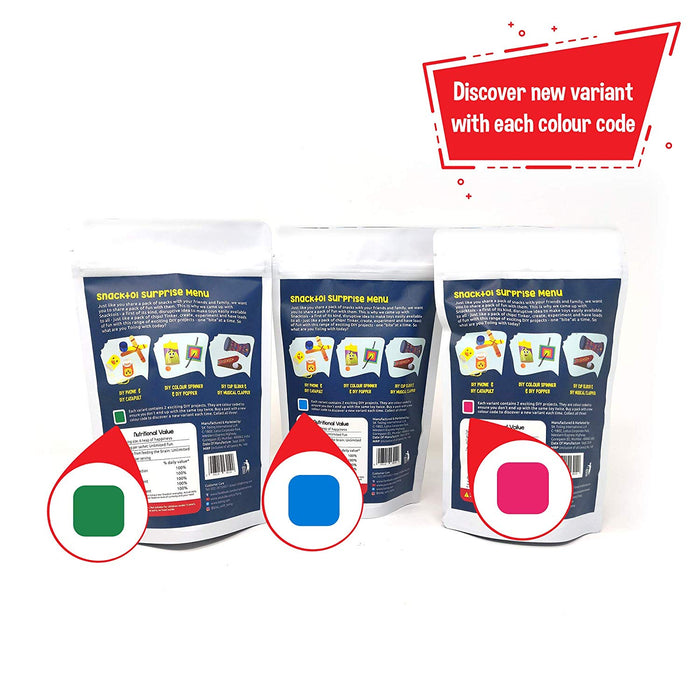 Toiing Snacktoi Combo Pack of 3: Surprise Pack with 2 Fun DIY Projects in Each Pack, for Kids of Age 5 Years and Above