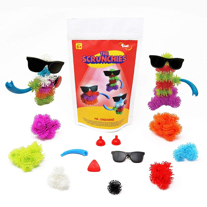 Toiing Scrunchies Return Gift Combo - Pack of 24 Monster Family Construction Sets for Kids