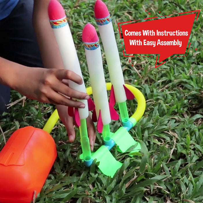 Toiing Rocketoi - Triple Stomp Rocket, Fun Outdoor Toy