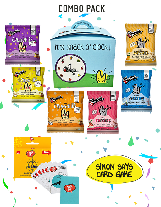 The Mumum Co. Snack O'Clock Hamper with Toiing Simon Says Card Game