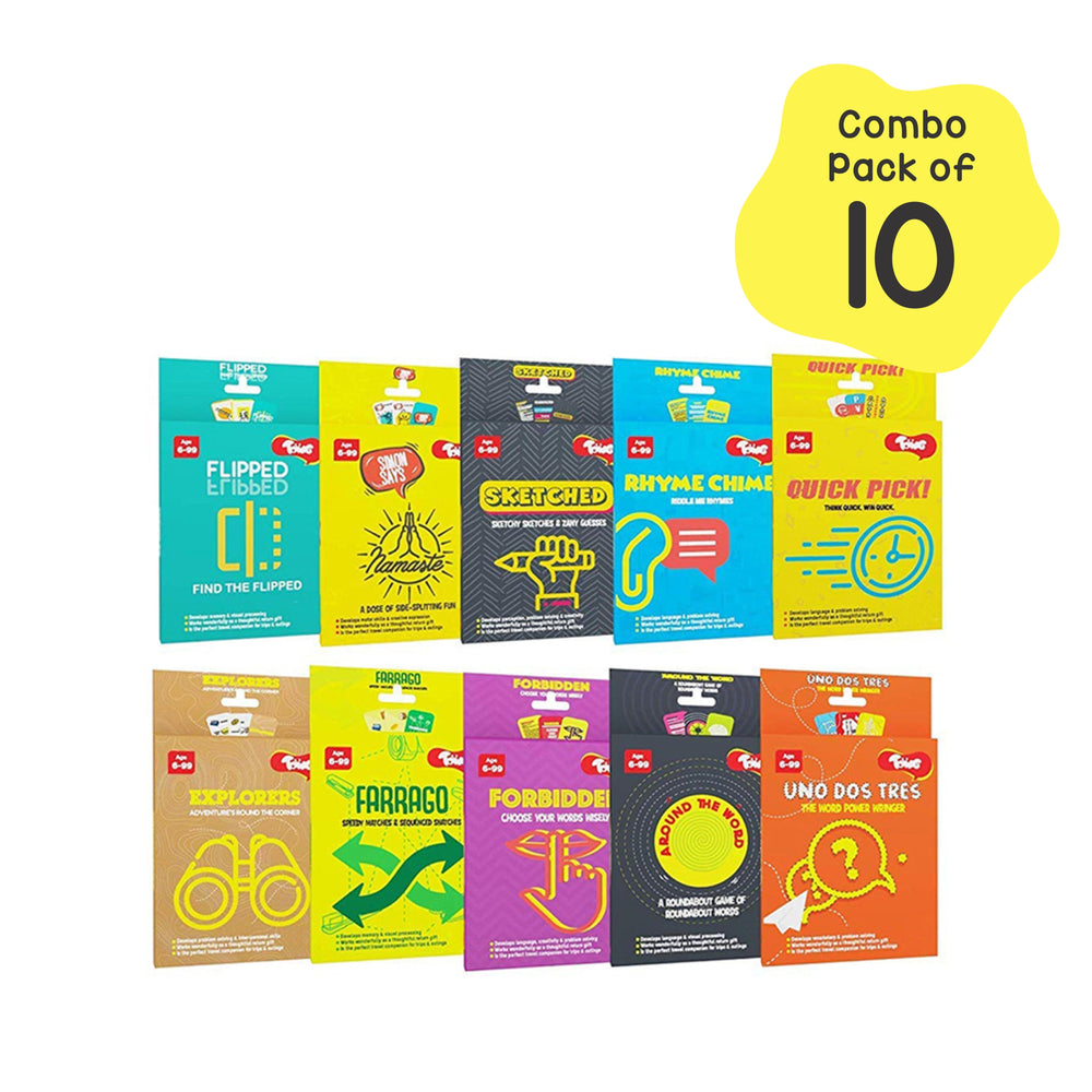 Card Games Return Gifts Pack - 10 Super-Fun Card Games, For Kids Age 5+ Years