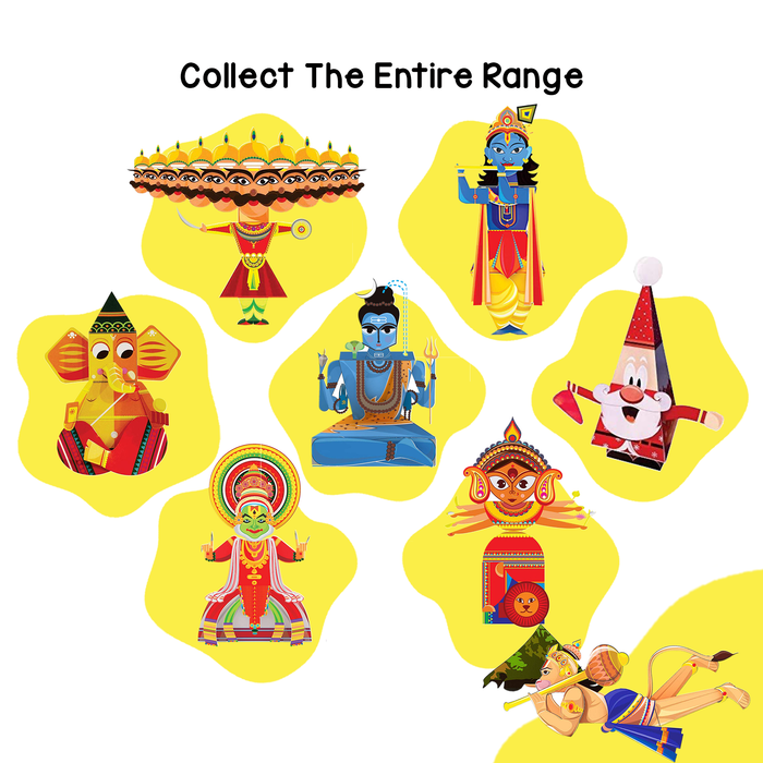 CrafToi Hanuman - 3D DIY Indian Paper Craft Kit Toy (Pack of 2)