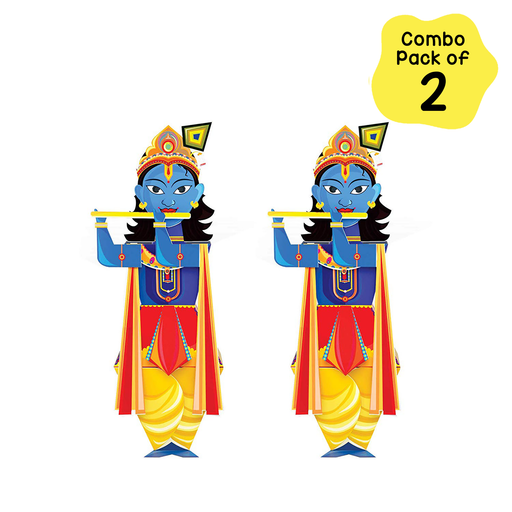 Craftoi Krishna - 3D DIY Indian Paper Craft Kit Toy (Pack of 2)