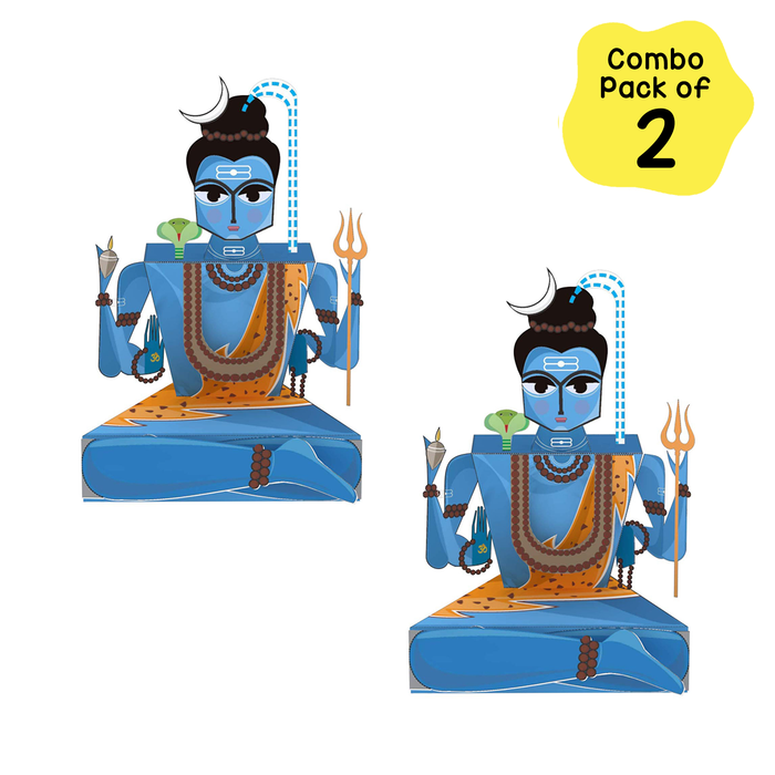 CrafToi Shiva - 3D DIY Indian Paper Craft Kit Toy (Pack of 2)