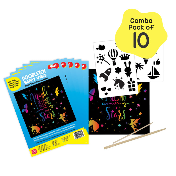 Toiing Doodletoi Happy Vibes Pack of 10