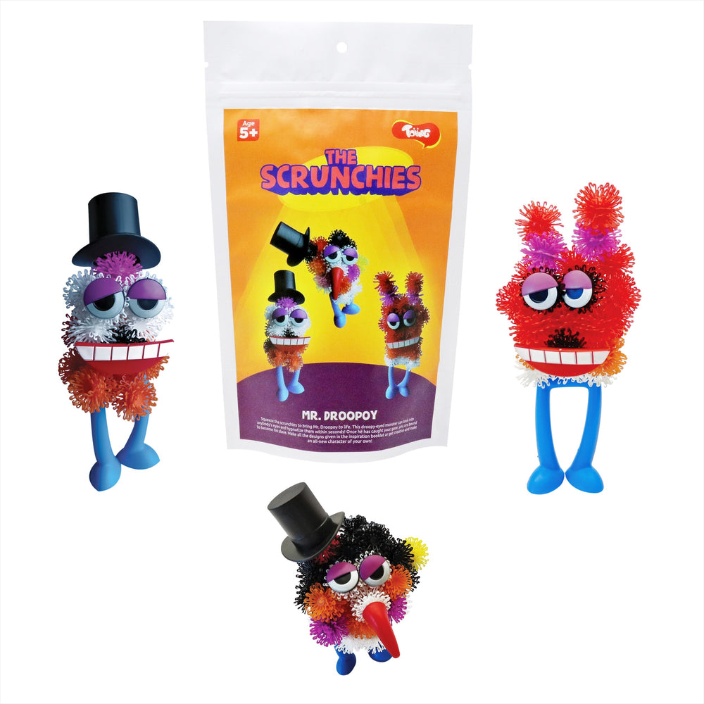 Toiing Scrunchies - Mr. Droopoy & Friends Construction Set for Kids with Innovative Pieces as Building Blocks and Accessories