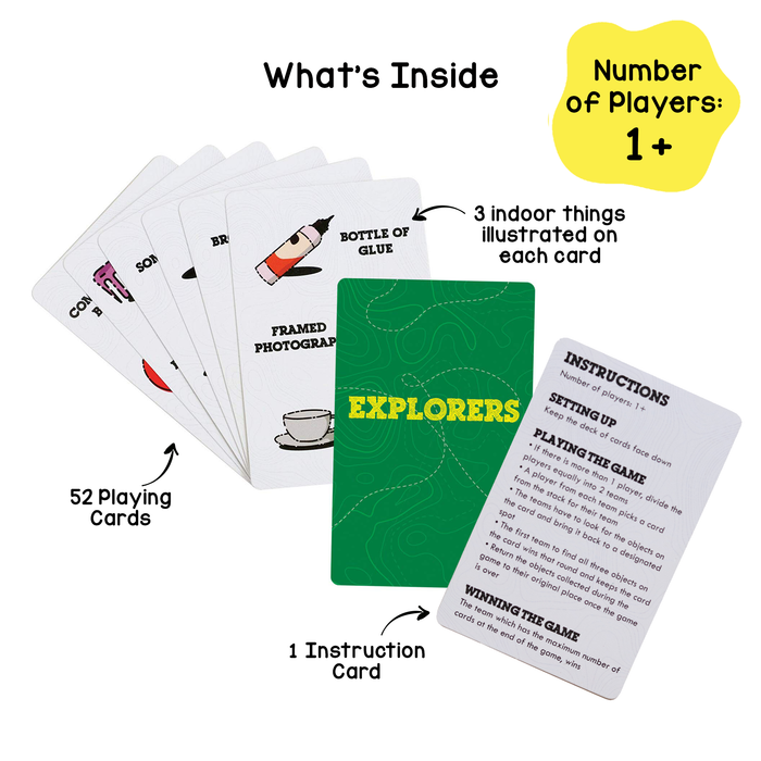 Explorers Card Game - Indoor Adventure, Develops Problem Solving Skills | Age 3+ Years