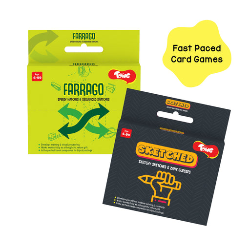 Fast Paced Card Games Combo Pack of 2, for Kids Age 6 Years and Above