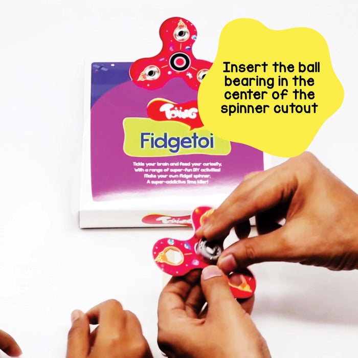 Fidgetoi - Return Gift Combo Pack of 10, DIY Fidget Spinner for Kids, STEM Science Learning Project