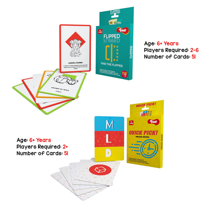 General Knowledge Card Games Combo Pack of 2, for Kids Age 6 Years and Above