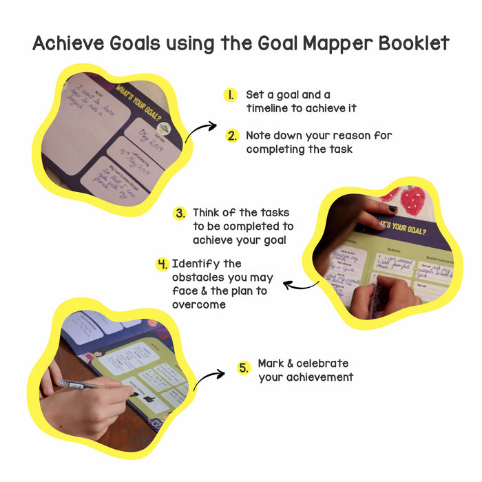 Goal Mapper - Calendar with Goal Map Book to Have Fun Learning Goal-Setting