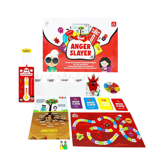 Anger Slayer - Fun Anger Management Kit with Board Game & Learning Tools, 5 - 8 Year Old Kids
