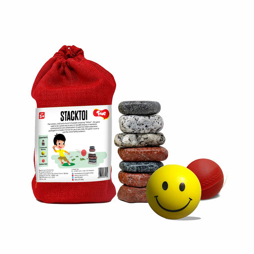 Stacktoi Lagori Pitthu Satodiyu: Classic Traditional Outdoor Game, For Kids Age 5+ Years