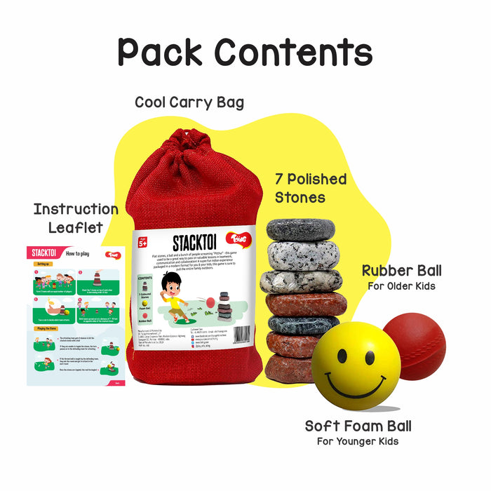 Stacktoi Return Gift Combo - Pack of 12 (Lagori Pitthu Satodiyu) Outdoor Traditional Games