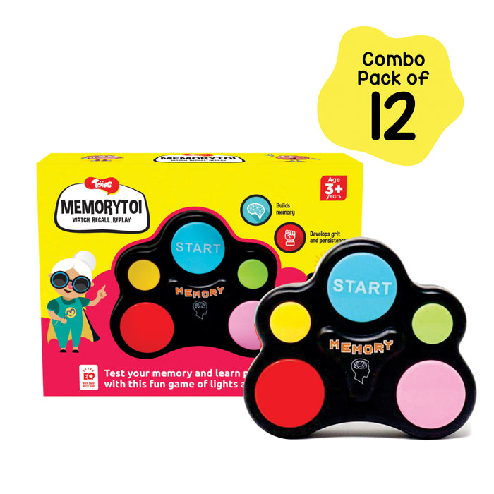 Memorytoi Return Gift Combo - Pack of 12 Electronic Memory Game, Great Travel Toy for Kids