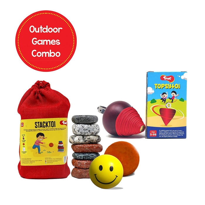Lagori & Topsytoi - Outdoor Traditional Games Combo, For Kids Age 5+ Years