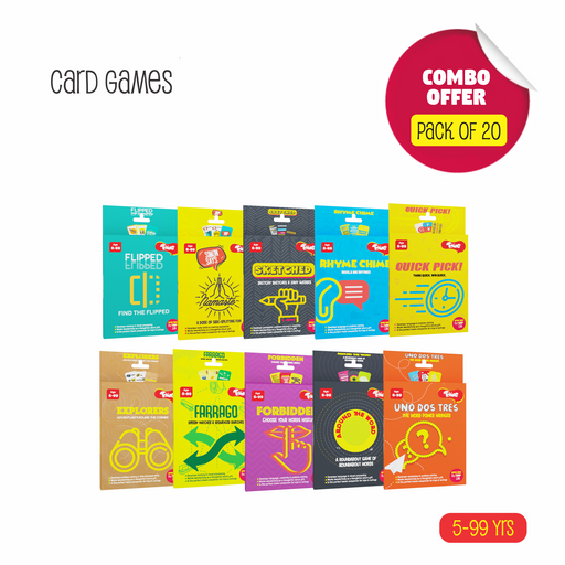 Toiing Return Gift Combo - Pack of 20 Fun Educational Card Games for Kids