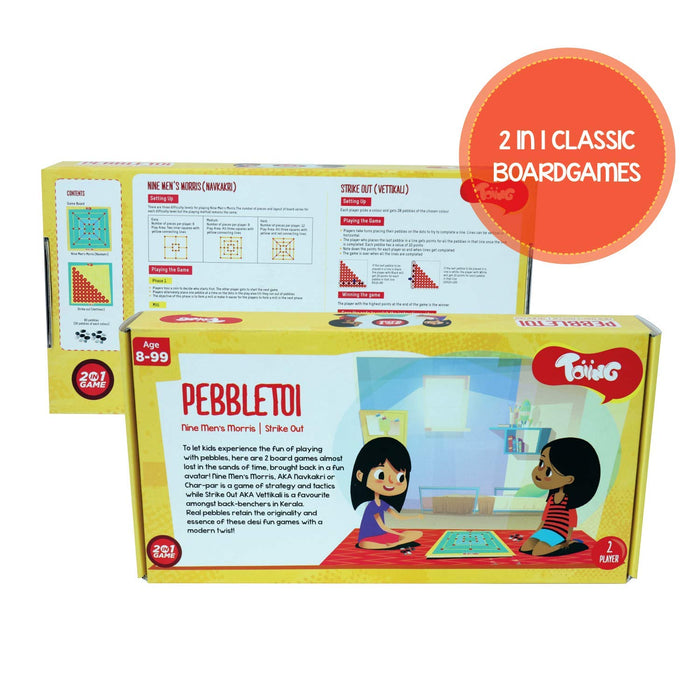 Pebbletoi 2-in-1 Strategy Board Game: Return Gift Combo Pack of 6
