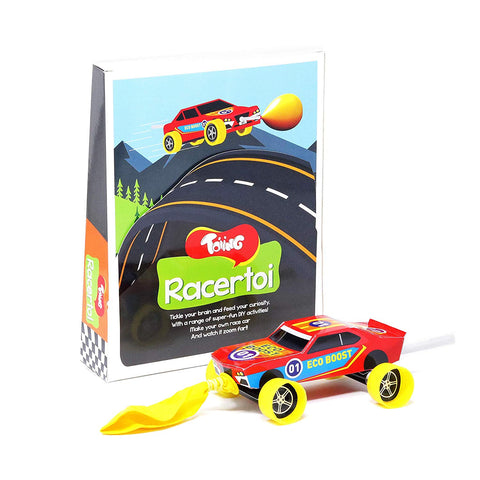 Toiing Racertoi: DIY Balloon Powered Race Car for Kids, STEM Science Learning Project (Racer TOI 1 Pack)