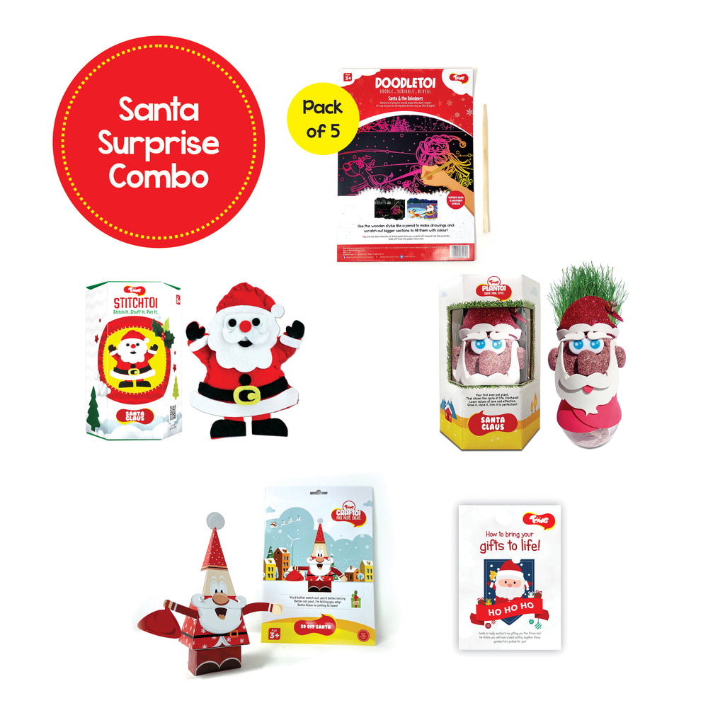 Toiing Christmas Specials: Santa Surprise Combo Pack of 5, for kids of age 4 years & above