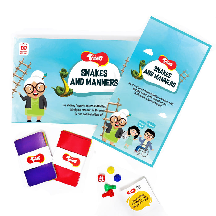 Snakes and Manners - Snakes and Ladders with a twist to learn manners for 5 - 7 Year Old Kids