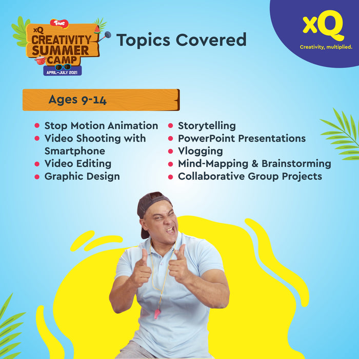 Toiing xQ Creativity Online Virtual Summer Camp for Kids 9-14 years Children Boys Girls featuring Cyrus Broacha