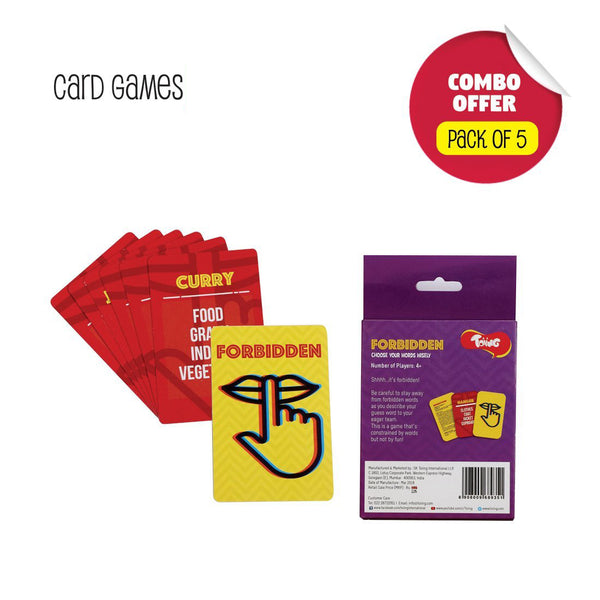 Toiing Return Gift Combo - Pack of 5 Fun Educational Card Games for Kids 5 to 8 Years