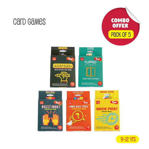Toiing Return Gift Combo - Pack of 5 Fun Educational Card Games for Kids Above 6 Years