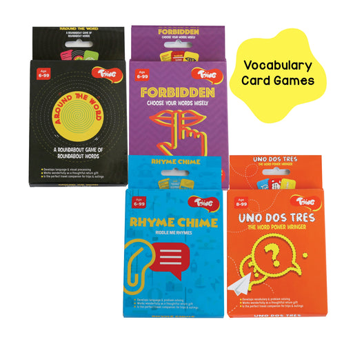 Vocabulary Card Games Combo Pack of 4, for Kids of Age 6 and Above
