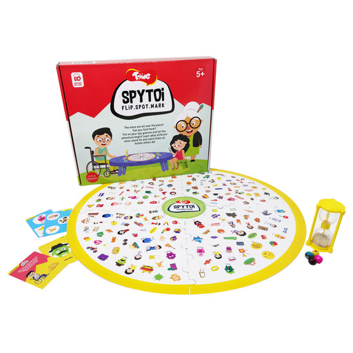 Spytoi Spotting Learning Board Game, Fun Indoor Game For Kids Age 5 - 8 Years Old