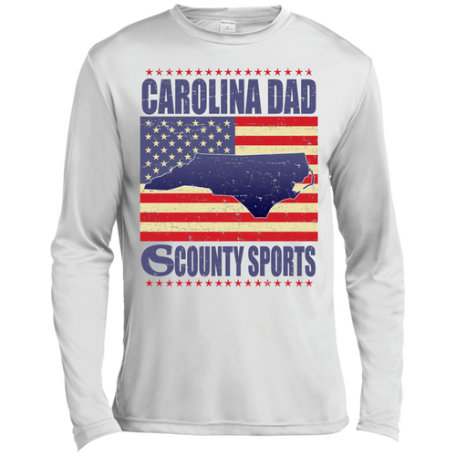 Carolina Dad - Long Sleeve Moisture Absorbing Shirt