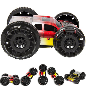 Kids Double-Sided RC Stunt Car w/ 360 Degree Flips, Spins - Multicolor