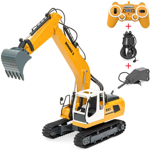 1/16 Scale Kids Multi-functional Remote Control Excavator Truck RC Toy