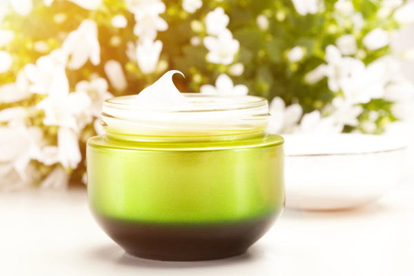 jar of skin care cream
