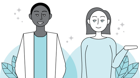 Minimalist Illustration of a man and a woman
