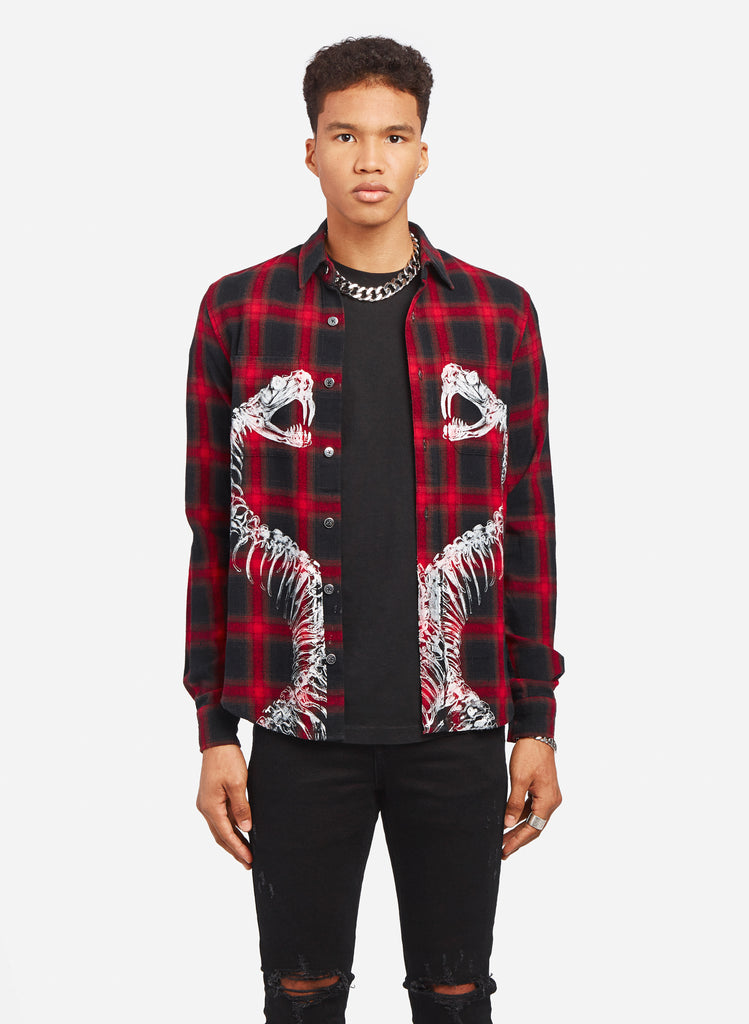 SNAKES PLAID SHIRT