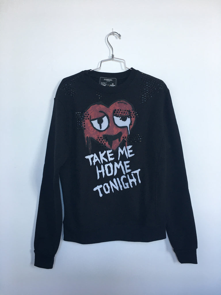 TAKE ME SWEATSHIRT WITH SWAROVSKI (MEDIUM)