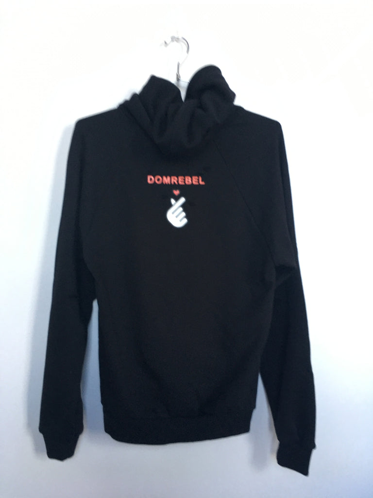 HEARTBEAT PULLOVER HOODIE WITH HOLES (MEDIUM)