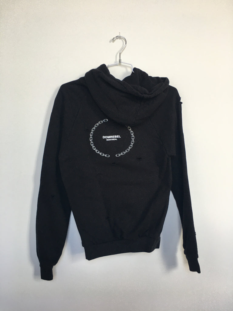 LIZ PULLOVER HOODIE WITH HOLES (SMALL)