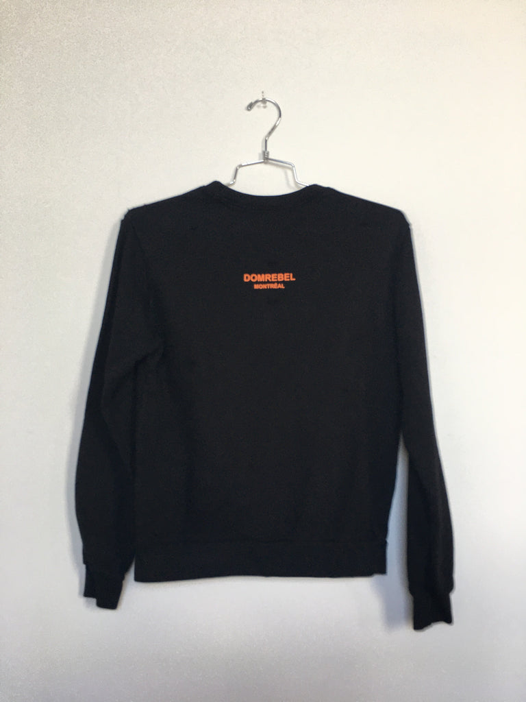 CRUSH SWEATSHIRT WITH HOLES (SMALL)