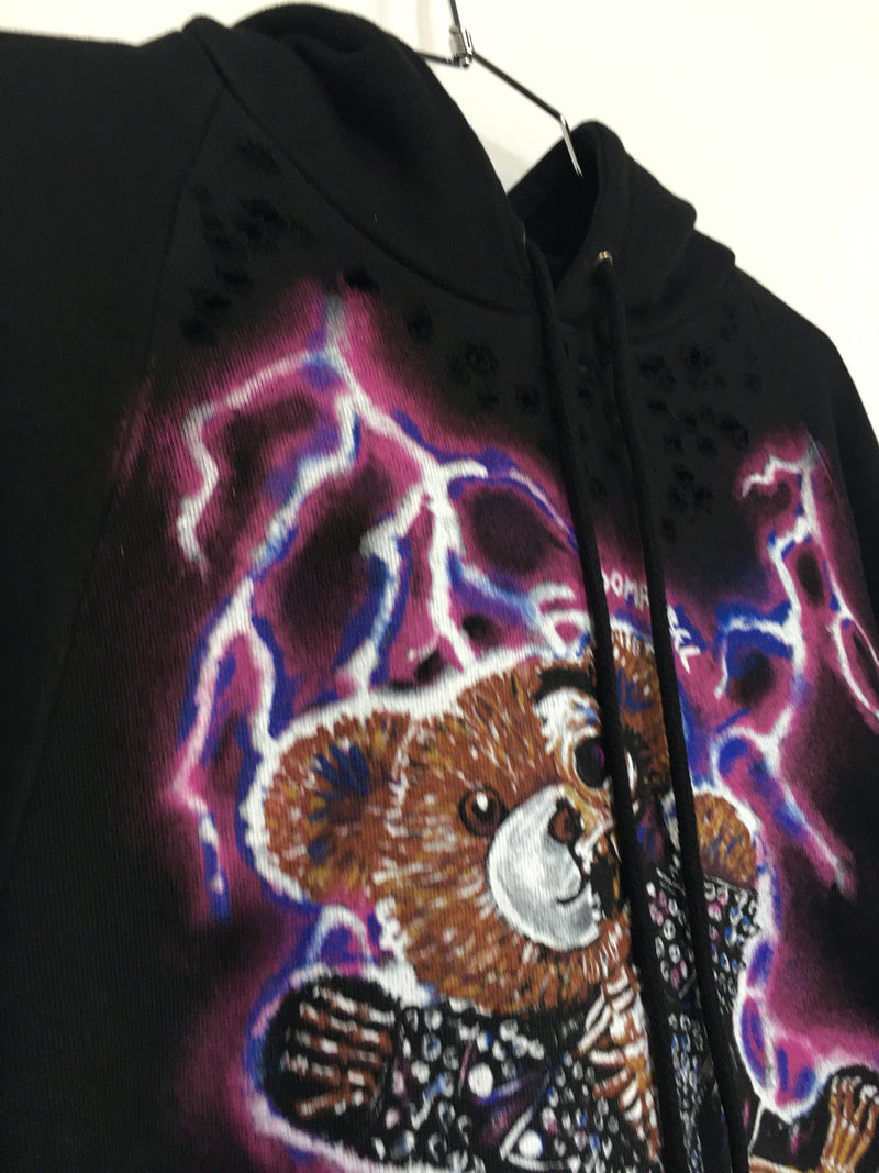 ZAPPED PULLOVER HOODIE WITH HOLES (SMALL)