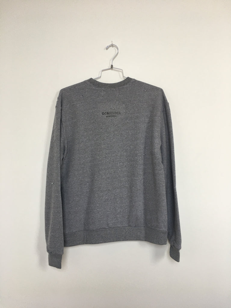 JUMPER SWEATSHIRT WITH HOLES (LARGE)