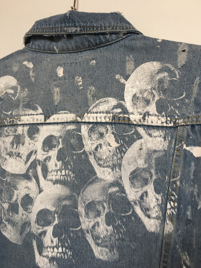 HEADS JEAN JACKET (LARGE)