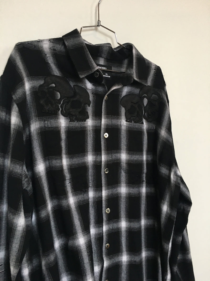 AMIGOS PLAID SHIRT (XL)
