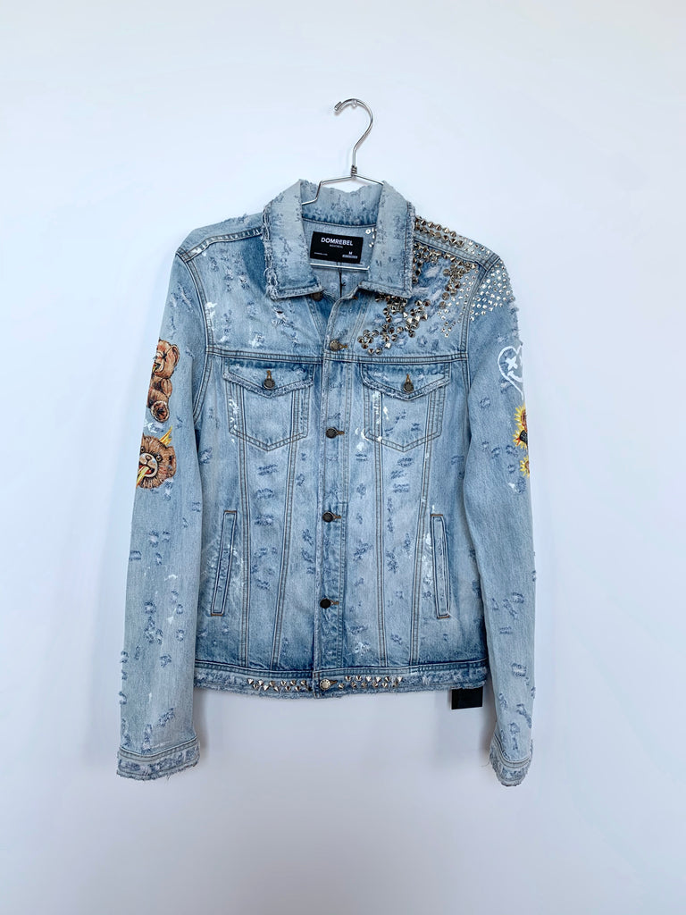DOODLES STUDDED JEAN JACKET SAMPLE (MEDIUM)