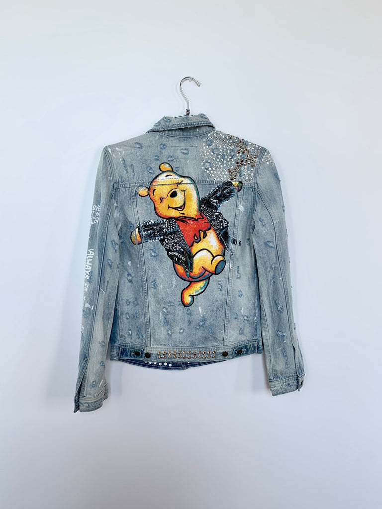 HAPPY STUDDED JEAN JACKET SAMPLE (EXTRA SMALL)