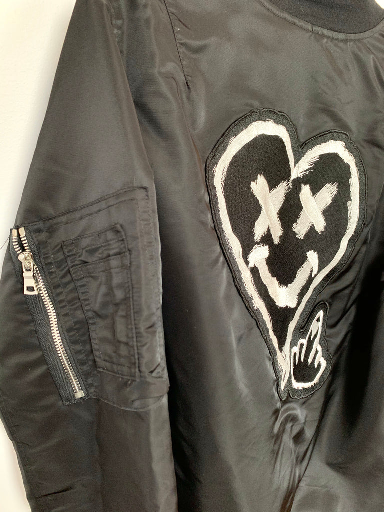 LOVERBOY BOMBER JACKET (LARGE) *SLIGHTLY DAMAGED