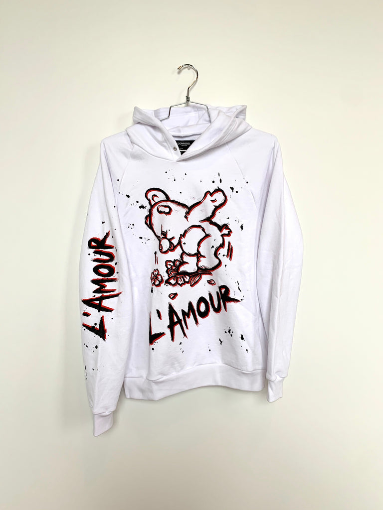 AMOUR WHITE HOODIE (MEDIUM)